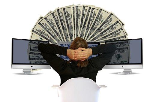 Dollar, Online, Earn, Online Banking, Monitor, Work