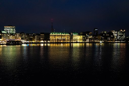 Hamburg, City, Hanseatic City, Alster, Water, Building