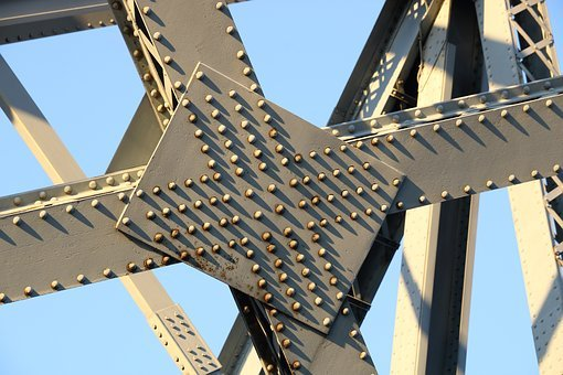 Architecture, Steel, Travel, Bridge, Rivet