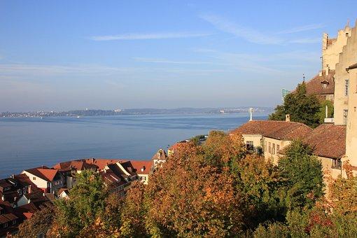 Meersburg, View, Lake Constance, Germany, Autumn