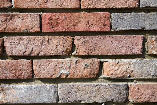 Brick, Wall, Texture, Pattern, Red, Orange, Background