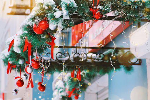 Winter, Snow, Scenery, Decoration, Background, City