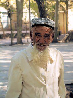 Old Man, Face, Beard, Portrait, Muslim, Smiling