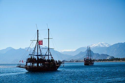 We Ship, Landscape, Marine, Holiday, Boat, Old, Blue