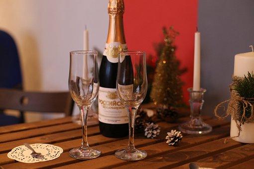 Champagne, New Year's Eve, Celebration, Bottles
