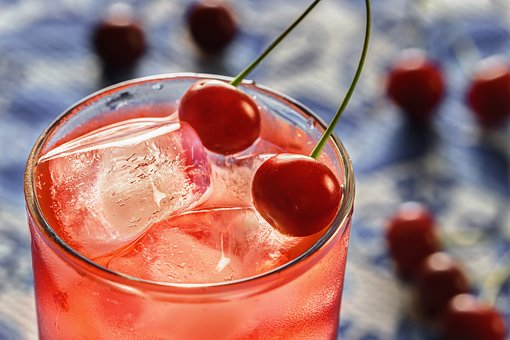 Cherry, Ice, Cold, Glass, Drink, Dessert, Fruit