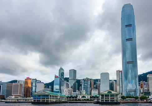Hong Kong, Central Pier, City, Cityscape