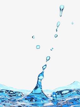 Water, Splash, Blue, Drops, Beautiful, Closeup, Wave