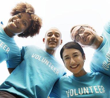 Volunteer, Adult, Arms Around, Charity, Community