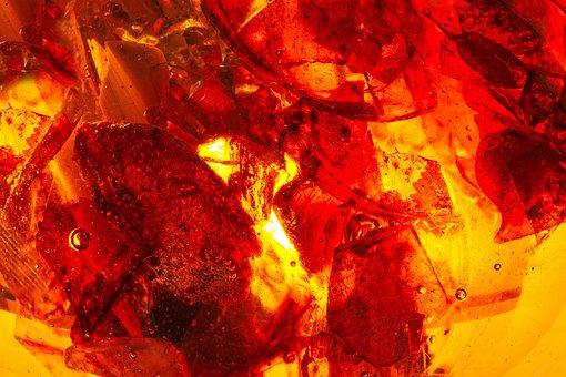 Bernstein, Burning Stone, Gem, Fossilized Resins