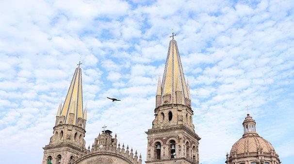 Guadalajara, Mexico, Sky, Blue