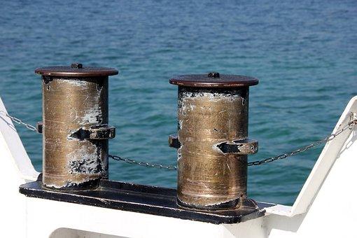 Bollard, Ship, Ship Deck, Water, Maritime, Boat, Rope