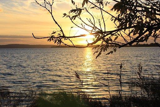Kummerower Lake, Mecklenburg Western Pomerania, Sunset