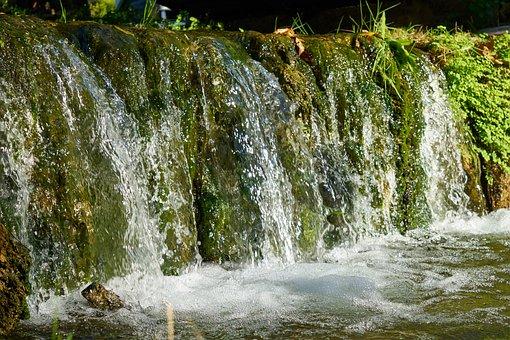 Waterfall, Water, Nature, Green, Landscape, Dd, Cascade