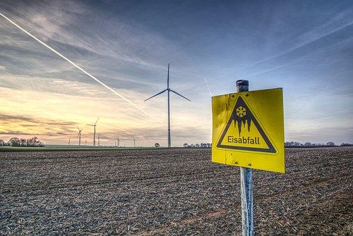 Pinwheel, Wind Energy, Warning, Shield, Icefall, Note