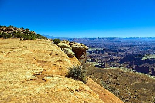 Overlooking White Rim, Desert, Rock, Canyonlands
