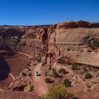 Shafer Trail Road, Desert, Canyonlands, National, Park