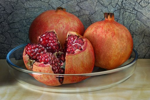 Pomegranate, Sweet, Vitamin, Diet, Dessert, Juicy, Red