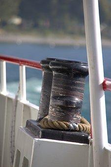 Bollard, Ship, Boat, Port, Dew, Investors, Close Up