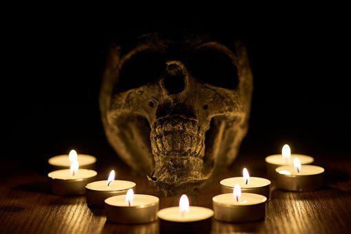 Skull, Candles, Selling, Satanism, Religion, Death