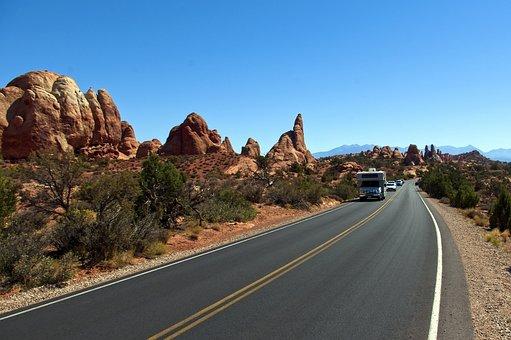 Arches Scenic Drive, Sandstone, Utah, Landscape