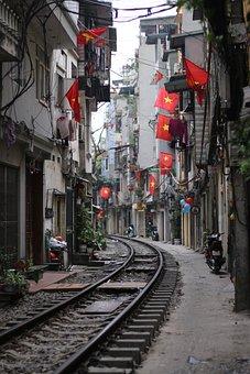 Tet, Hanoi, Vietnam, Peaceful, Beauty, Quite, Red, Star