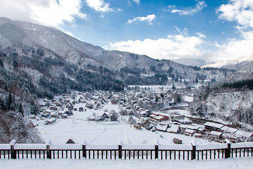 Shirakawa-go, Thatched Roof, Thatch, Winter, Snow