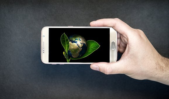 Nature Conservation, World, Smartphone, Green, Globe
