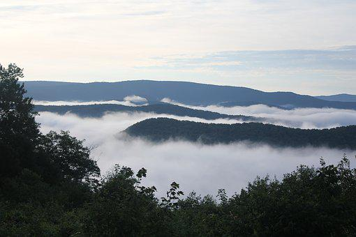 Fog, Mountains, Appalachia, West Virginia