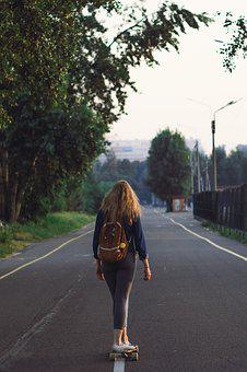 Journey, Stroll, Landscape, Nature, Backpack, Asphalt