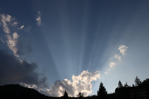 Clouds, The Rays, Buried, Landscape, Mood, Beautiful