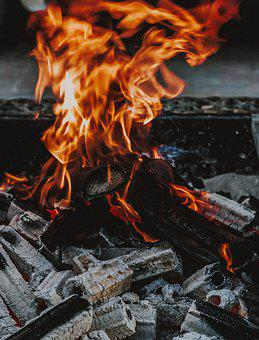 Fire, Coal, Fireplace, Charcoal, Barbecue, Grill