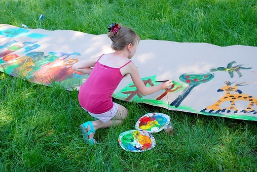 Painting, Child, Arts, Fun, Drawing, Figure, Science