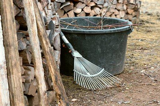 Gardening, Computing, Raking Leaves, Vat, Garden, Tool