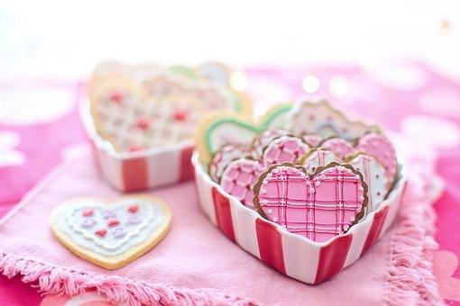Valentine's Day, Valentine, Cookies, Hearts, Decorated