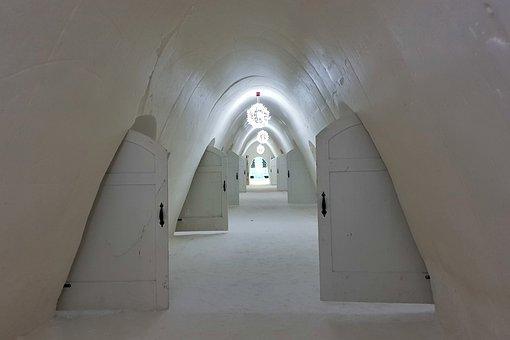 Snowhotel, The Door, Corridor, Ice, Lapland, Cold