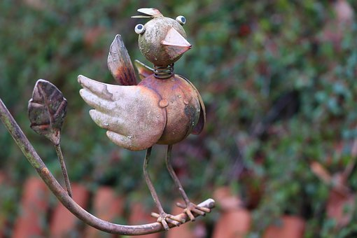 Bird, Metal Bird, Decoration, Deco, Gartendeko, Metal