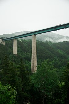 Brenner Pass, Europe Bridge, Bridge, Highway, Burner