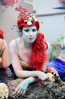 Festival, Mermaid, Disguise, Rousse