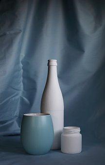 Nature, Still, Life, Bottle, Glass Jar, Jar, Matte