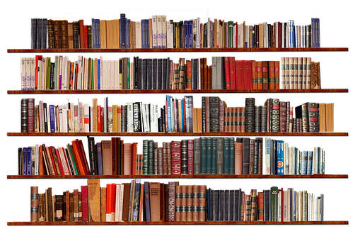 Bookshelf, Isolated, Transparent Background, Books