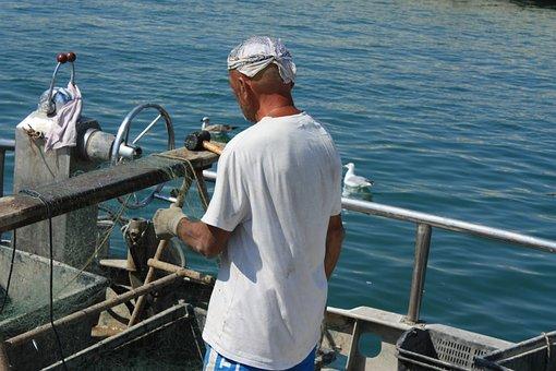 Old Fishing, Sea, Italy, Fishing Vessel, Elderly, Work