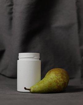 Pear, Natural, Food, Fruit, Bottle, Glass Jar, Jar