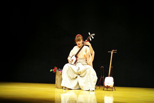 Japan, Woman, Music, Tradition, Asia, Traditional