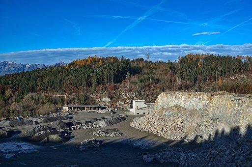 Quarry, Sand, Pebble, Machine, Excavators, Nature