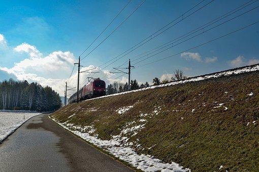 Dam, Railway, Train, Railroad Tracks, Transport