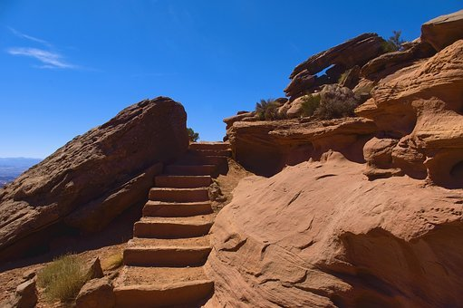 Grand View Trail Steps, Desert, Rock, Steps, Stairs
