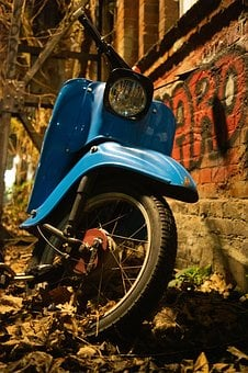 Roller, Vehicle, Motor Scooter, Oldtimer, Classic
