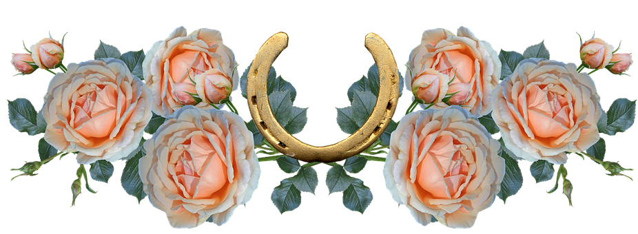 Flowers, Roses, Good Luck, Horseshoe, Arrangement