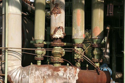 Industrial Park, Pipes, Rust, Factory, Duisburg, Metal